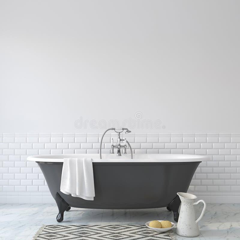 Romansowa łazienka Wewnętrzny mockup 3 d czynią ilustracja wektor