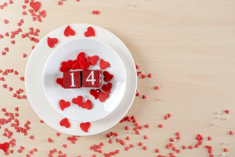 Romansowy czerwony kierowy valentines dnia pojęcie fotografia stock