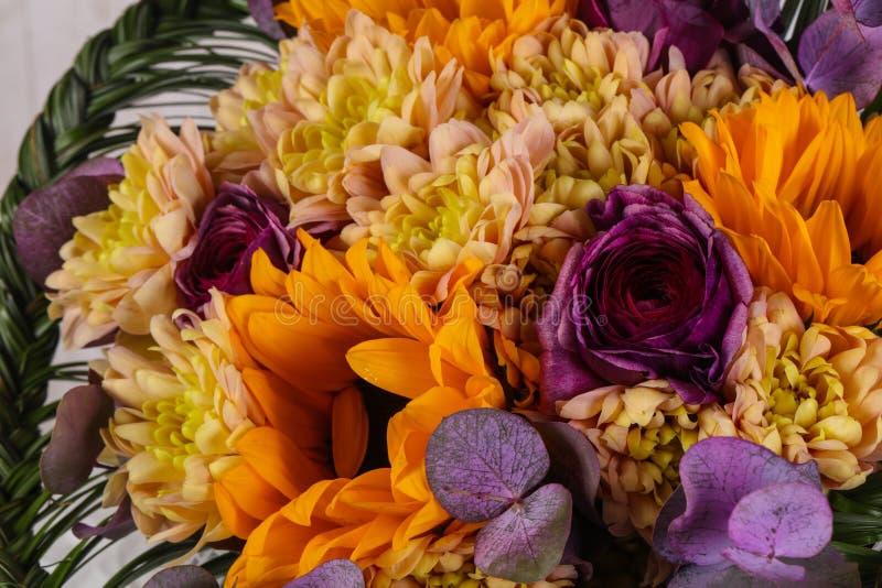 Romansowy kwiatu bukiet zdjęcia stock