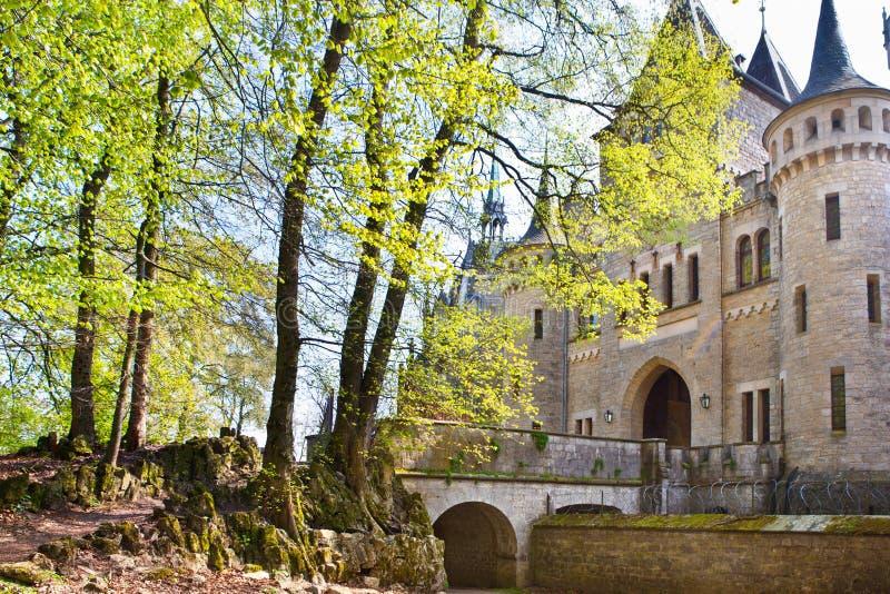 Romantic ancient castle Marienburg stock photography