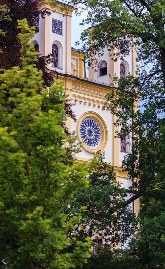 Marianske Lazne Marienbad. Romantic architecture of Bohemia. Marianske Lazne Marienbad, Czech Republic royalty free stock image