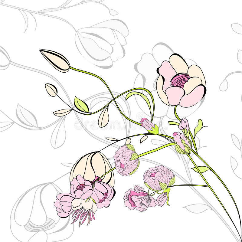 Download Romantic background stock vector. Image of cover, flourish - 16108499