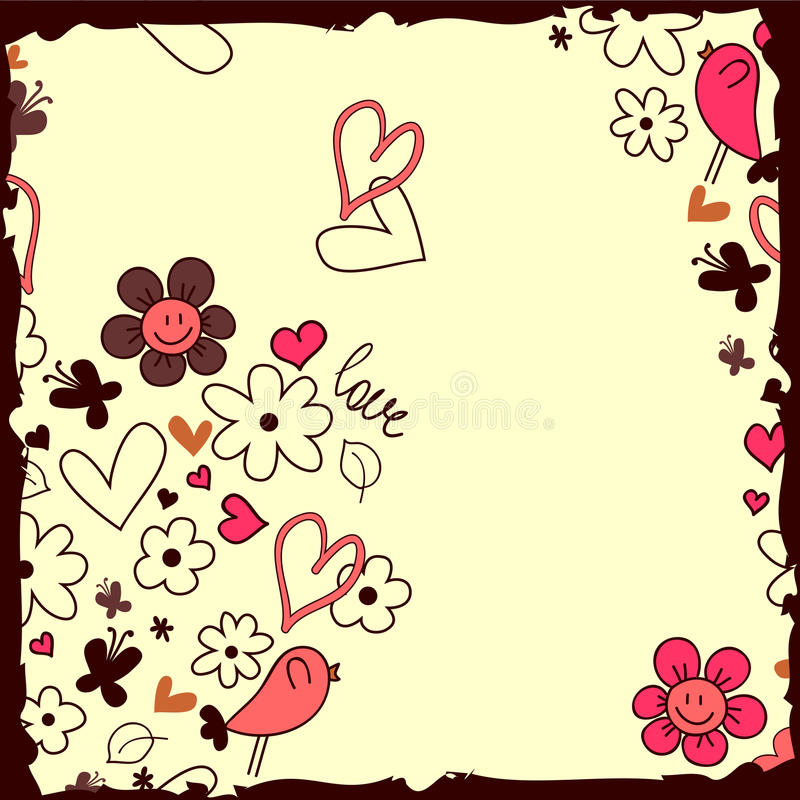 Download Romantic background stock vector. Image of flower, baby - 28538070