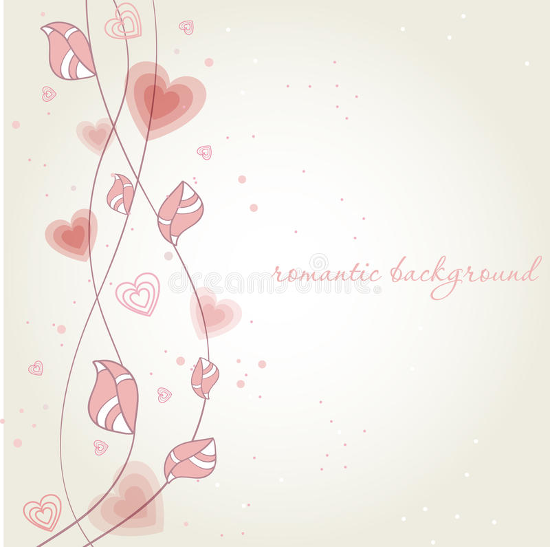 Download Romantic Background With Heart Flower Stock Vector - Image: 17325599