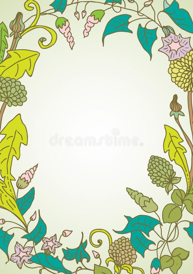 Download Romantic Background With Wild Flower Wreath Stock Vector - Image: 28809664