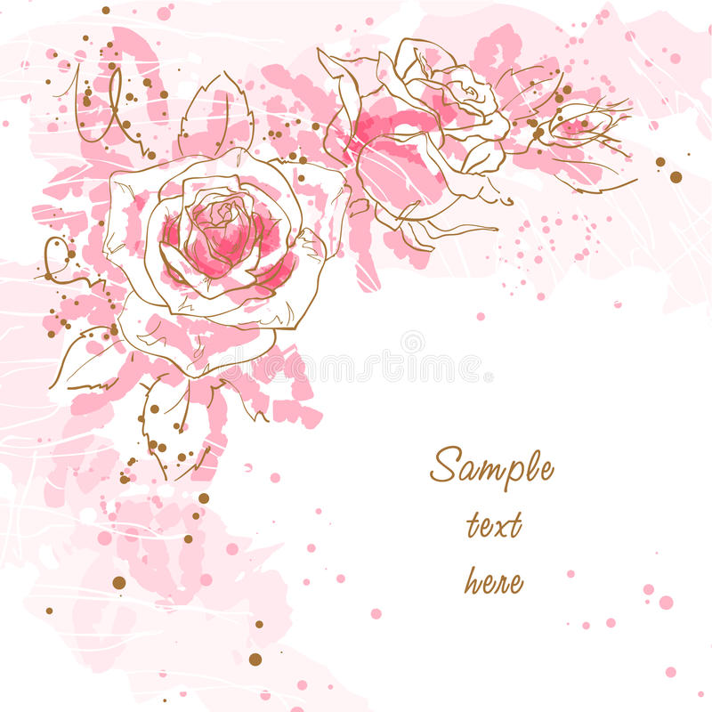 Free Romantic Background With Roses Royalty Free Stock Photography - 15097337