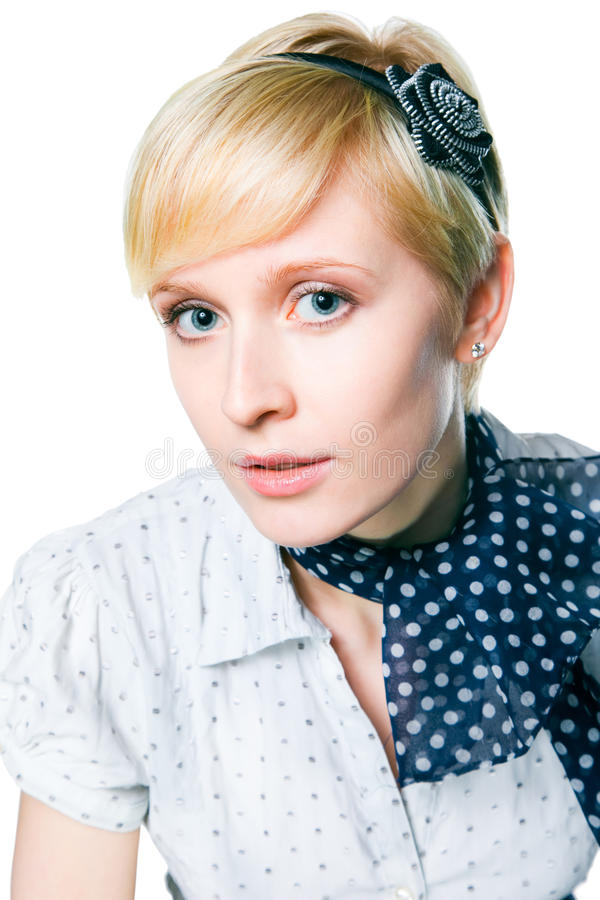 Download Romantic Blonde Girl With Clean Skin Stock Photo - Image: 19895532