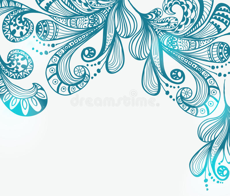 Download Romantic Blue Floral Background Stock Vector - Image: 27406819