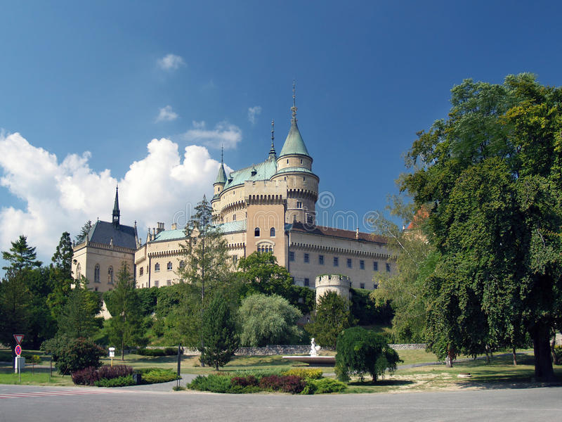 Romantic Bojnice castle, Slovakia royalty free stock images