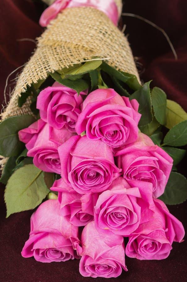 Romantic bouquet of Ecuadorian pink roses. Beautiful romantic bouquet of Ecuadorian pink roses stock photography