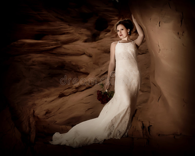 Romantic bride 1 royalty free stock photos