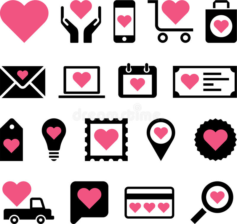 Download Romantic business icons stock vector. Image of cellphone - 34744826
