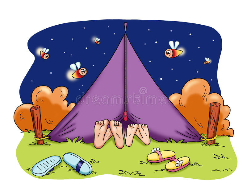 Download Romantic camping stock illustration. Image of colored - 14741872
