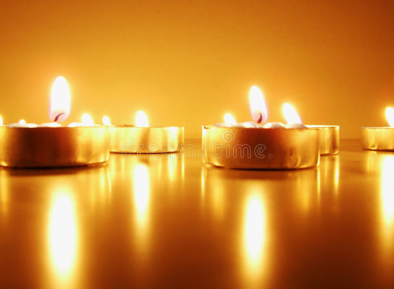 Romantic candle stock photography