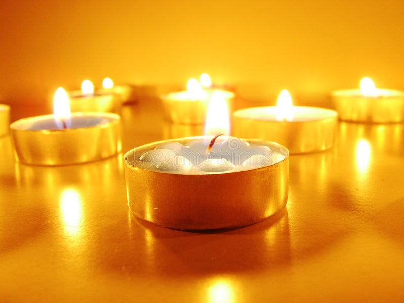 Romantic candle royalty free stock photos