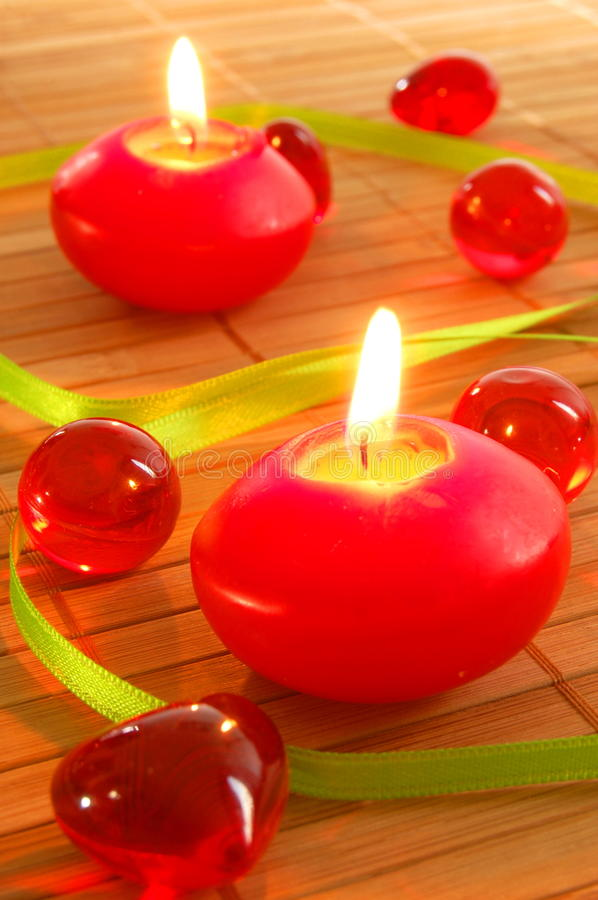 Romantic candle light stock images