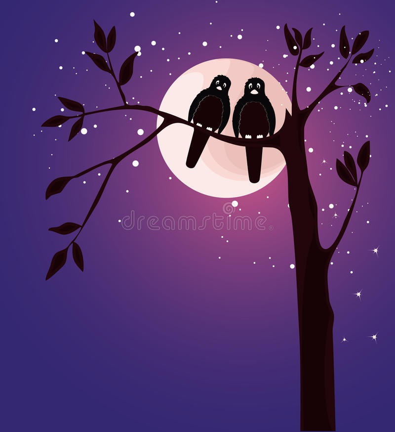 Download Romantic card with birds stock vector. Image of romantic - 28547940