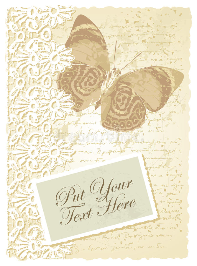 Download Romantic Card With Butterfly Stock Vector - Image: 26751635