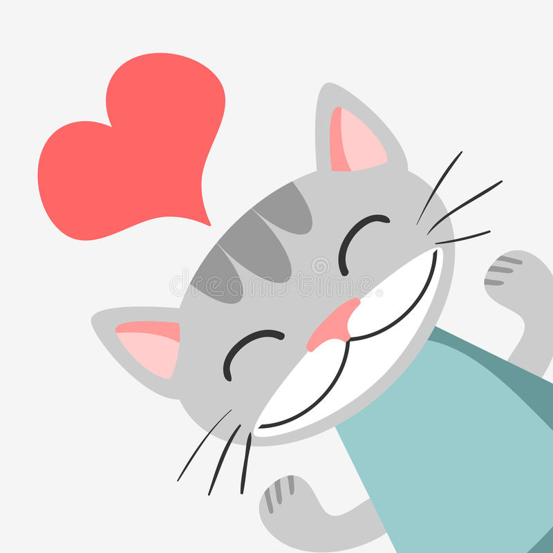 Download Romantic card with kitty stock vector. Illustration of romantic - 27665534