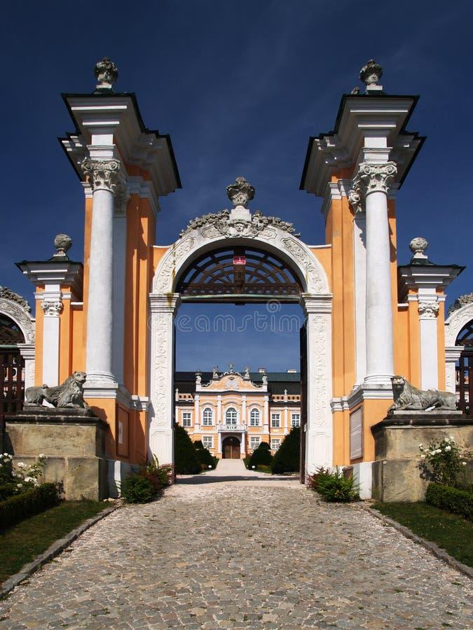 Romantic castle gate