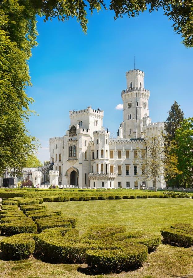 Romantic Castle Hluboka Landmark Fairytale Attraction stock images