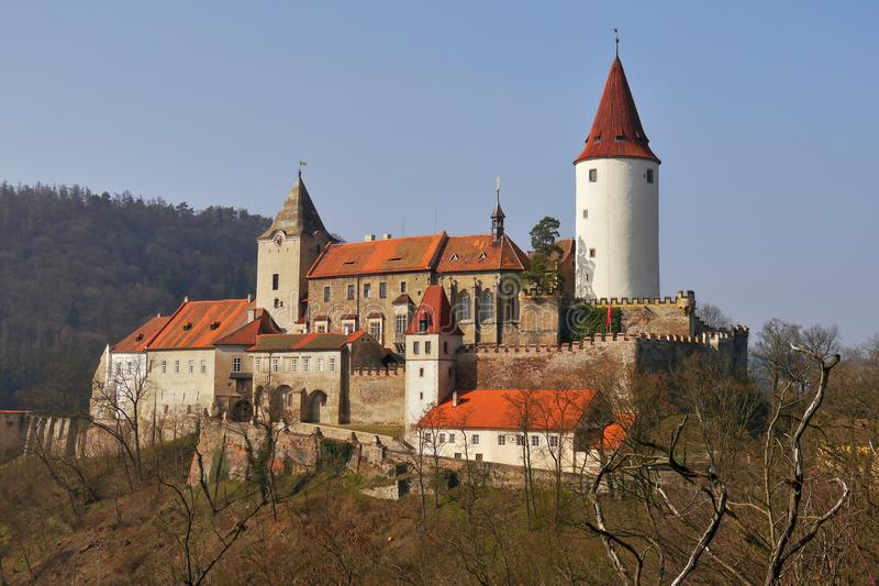 Romantic castle with tower royalty free stock images