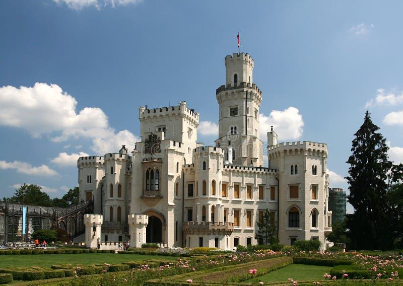 Romantic Chateau. Hluboka nad Vltavou stock photo