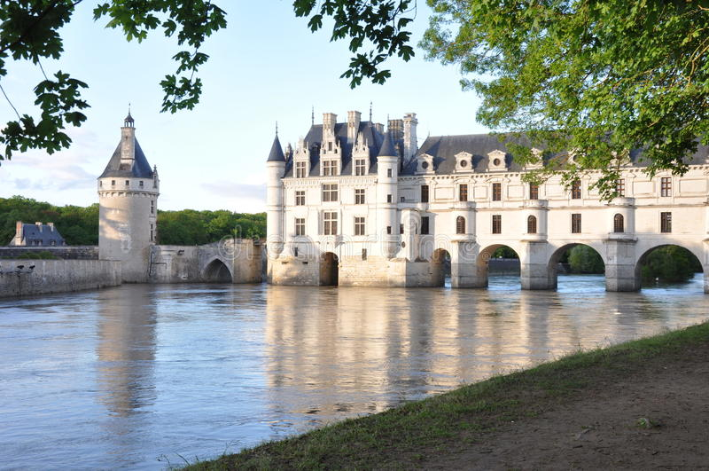 Romantic Chenonceau Castle royalty free stock photos