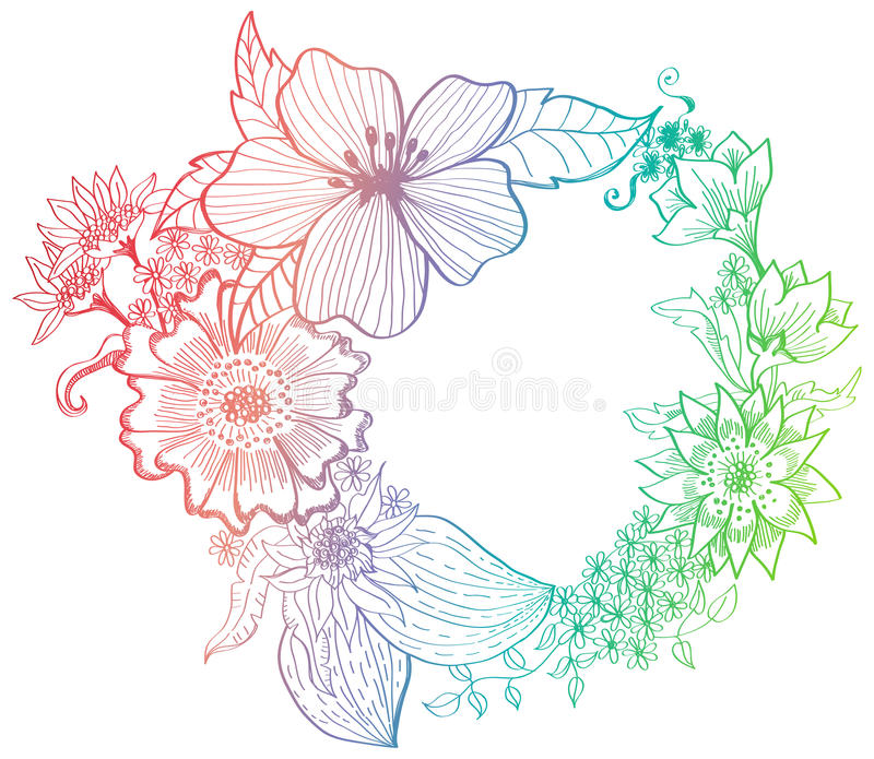 Romantic Colorful Flower Background Stock Images