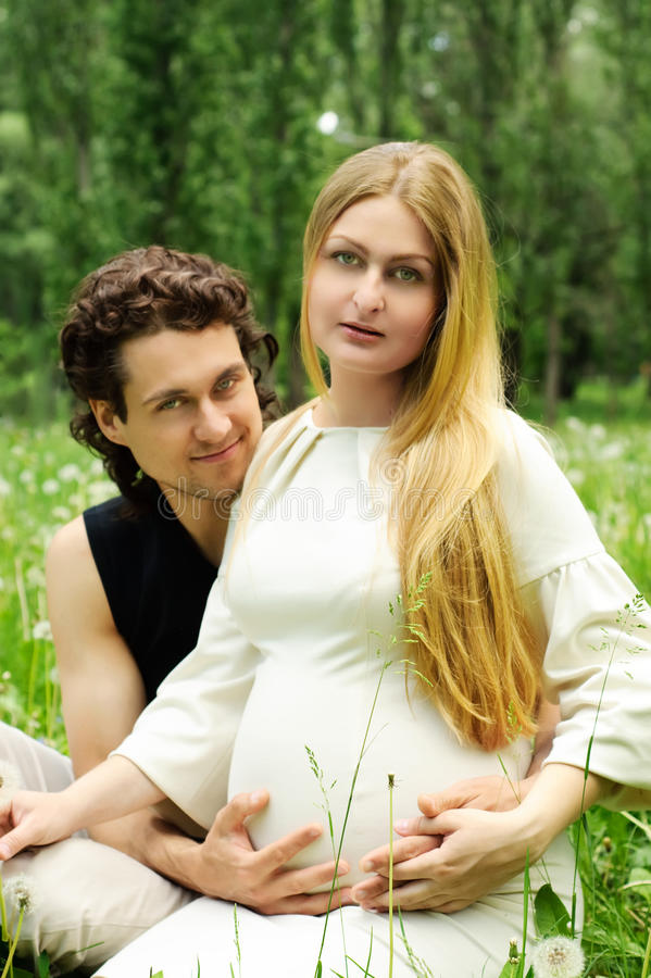 Download Romantic couple stock image. Image of grass, beauty, blond - 14417149