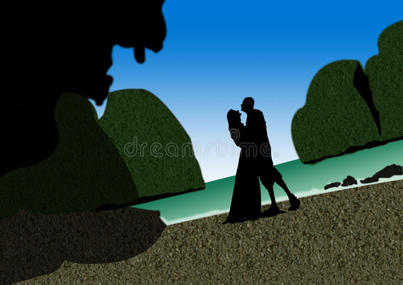 Download Romantic couple stock illustration. Image of love, mountain - 21570551