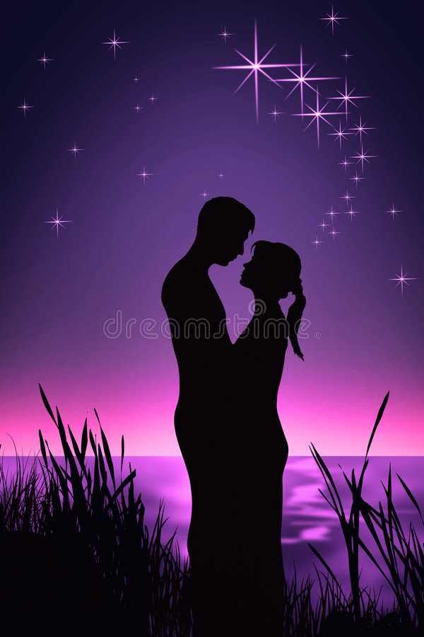 Download Romantic Couple stock illustration. Image of beach, emotional - 6809951