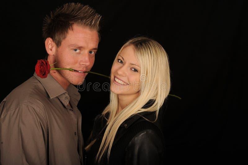 Romantic couple stock image