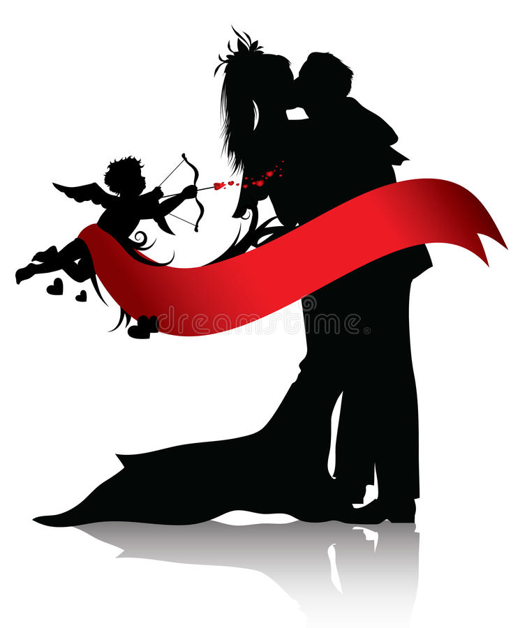Free Romantic Couple And Cupid Background Stock Photo - 17724320