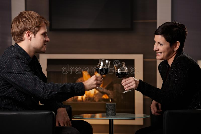 Romantic couple dating stock images
