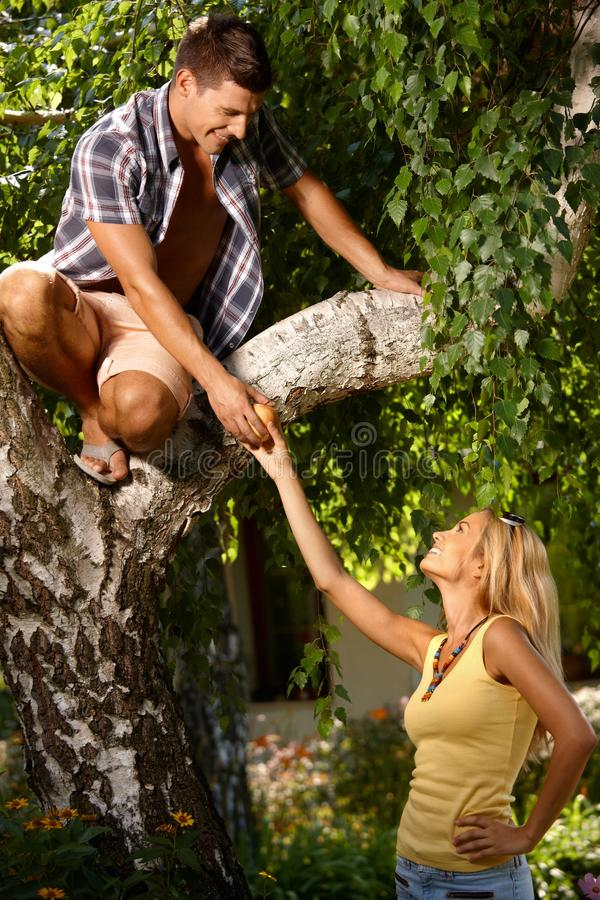 Download Romantic Couple In The Green Stock Photo - Image of green, couple: 24192112
