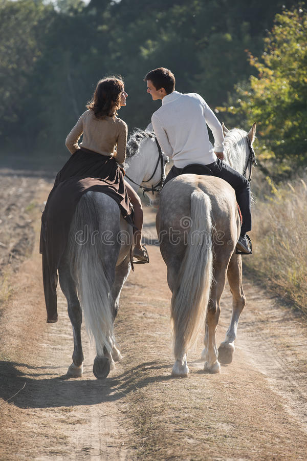 Free Romantic Couple Riding Stock Photos - 60742013