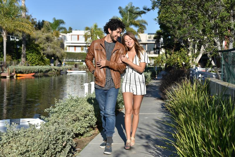 Romantic couple on vacation royalty free stock images