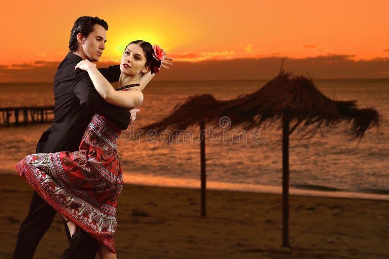 Romantic dance. Couple dancing a latin dance