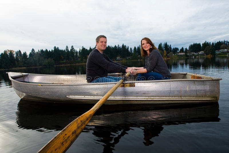 Download Romantic date in a boat stock image. Image of boating - 22226609