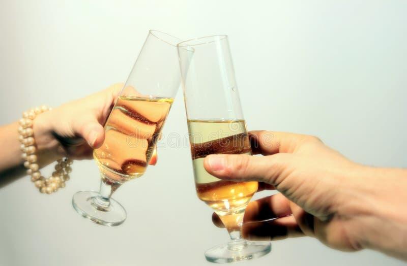 Romantic date, Toast stock photography