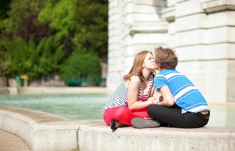Download Romantic Dating Couple Kissing Stock Image - Image: 24866993
