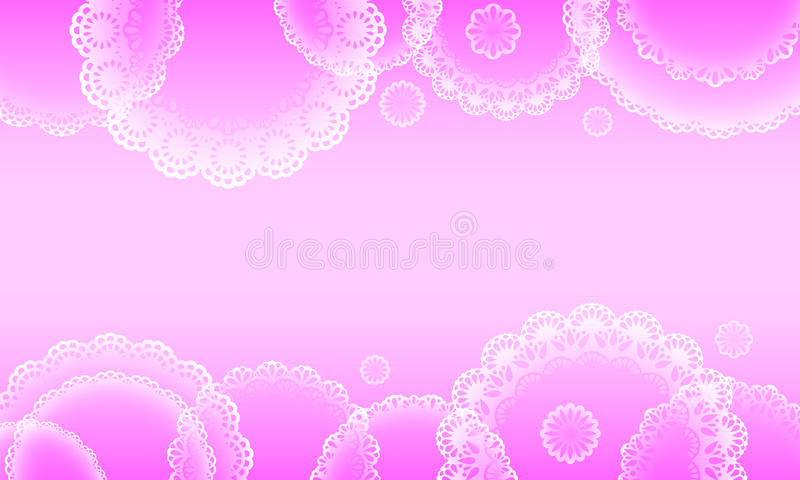 Romantic decorated background stock illustration