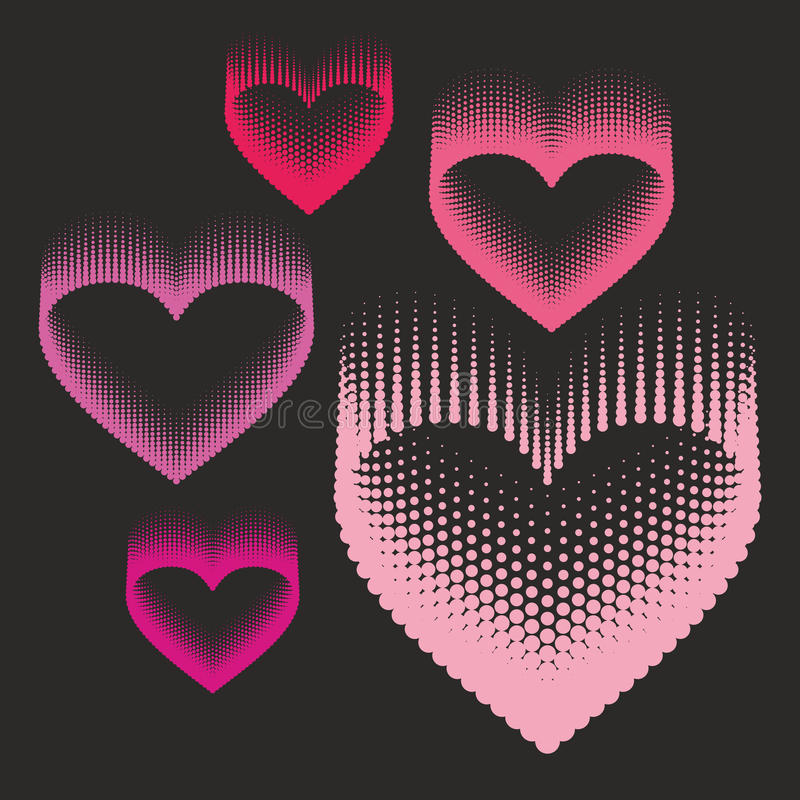 Romantic design element - heart halftone for valentines day_2. Romantic design element - heart for valentines day. Halftone pattern vector illustration
