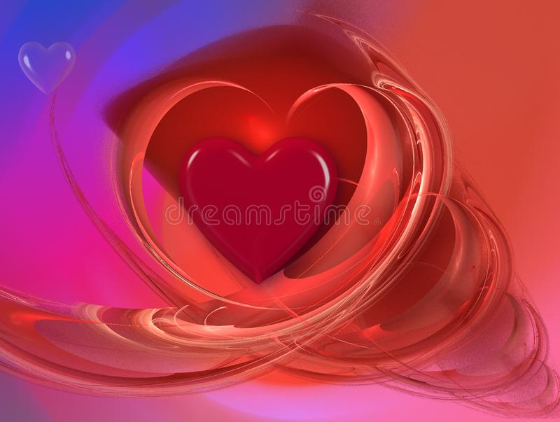 Romantic design with hearts stock photography