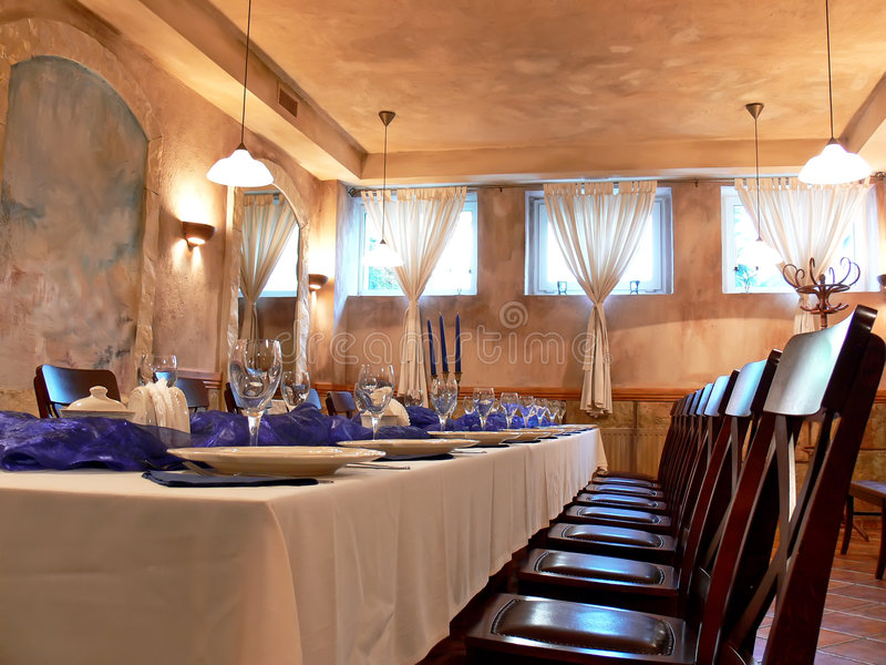 Romantic dining room stock image