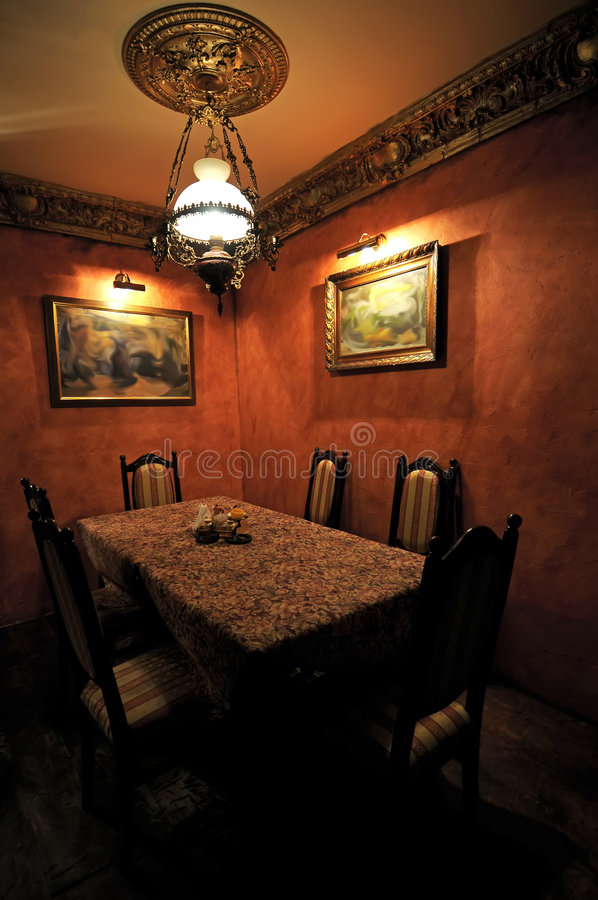 Dining Room Dark Romantic: Romantic Dining Room Stock Photo. Image Of Dining