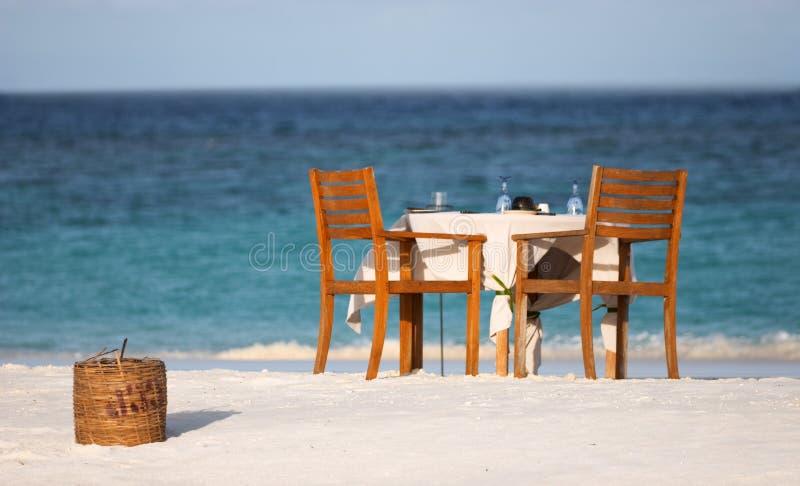 Romantic dinner stock images