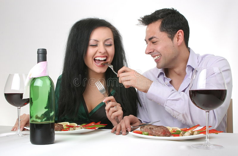 Romantic dinner royalty free stock photography