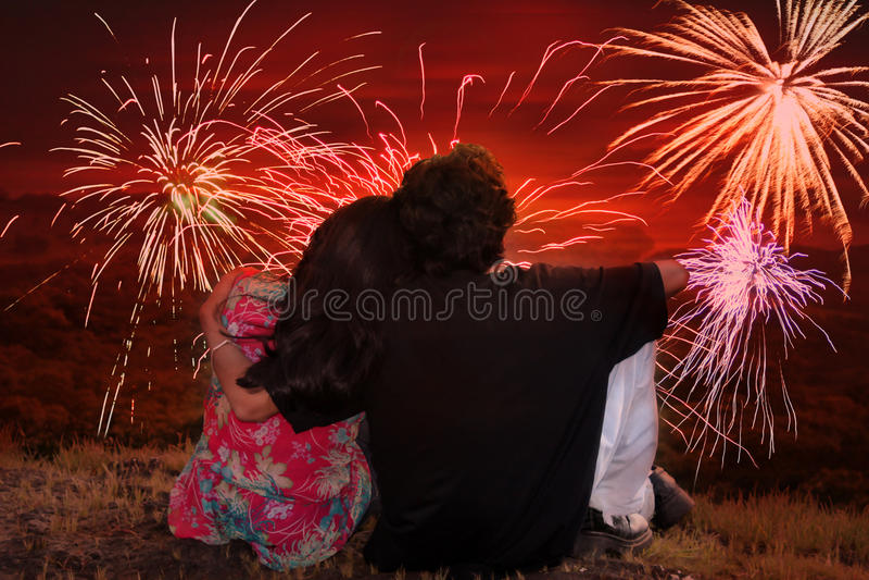 Romantic Diwali royalty free stock photos